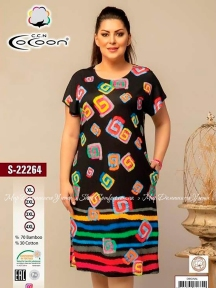 Трикотажное платье с коротким рукавом Cocoon S22264