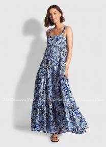 Летнее хлопковое платье Seafolly 54254-DR med.blue