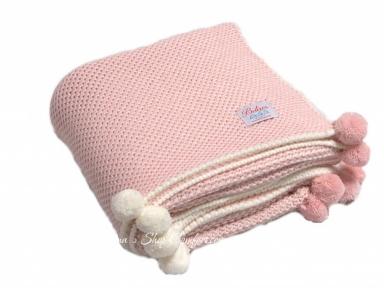 Плед детский вязаный Betires Home Kiddy Pink 90x90 (700376)