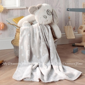 Плед с игрушкой Biederlack Bocasa Play&Dream Set Hund 75х100