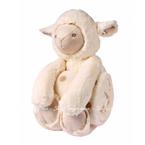 Плед с игрушкой Biederlack Bocasa Play&Dream Lamb 75х100