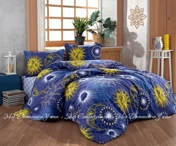 Постельное белье бязь голд LightHouse Sun Moon полуторный 160x220 (2200000551313)