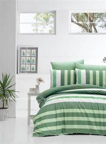 Постельное белье ранфорс LightHouse Stripe евро 200x220 зеленый (2200000550590)
