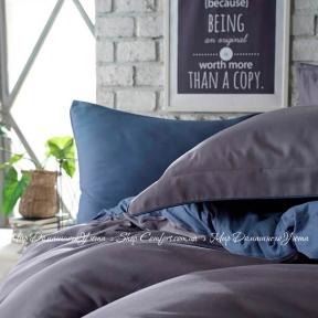 Постельное белье сатин люкс Dantela Vita Tuana полуторное blue