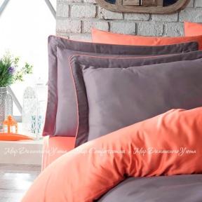 Постельное белье сатин люкс Dantela Vita Tuana полуторное orange