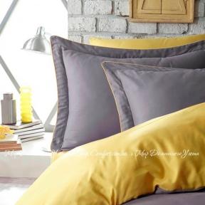 Постельное белье сатин люкс Dantela Vita Tuana полуторное yellow