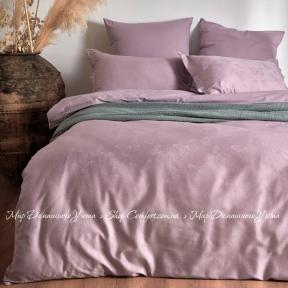 Постельное белье жаккард однотонный Limasso Butterfly евро violet