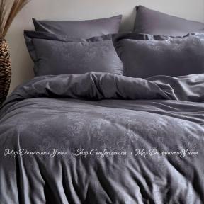 Постельное белье жаккард однотонный Limasso Hoten евро grey