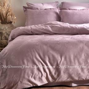 Постельное белье жаккард однотонный Limasso Hoten евро violet