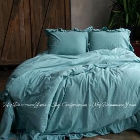 Постельное белье Limasso Mineral blue exclusive семейный