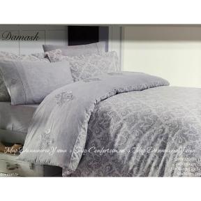 Постельное белье сатин премиум Maison Dor New Damask grey евро серое