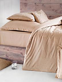 Постельное белье Issimo Home Magnus brown жаккард евро