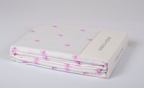 Простынь Karaca Home Bird pink 240х260
