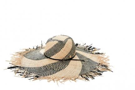 Шляпа женская Seafolly 71369-HT black natural/беж