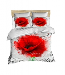 Постельное белье LightHouse Ranforce+3D Poppy Flower евро (2200000549549)