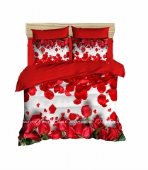 Постельное белье LightHouse Ranforce+3D Red Roses евро (2200000549631)