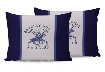 Наволочки Beverly Hills Polo Club BHPC 029 blue 50х70