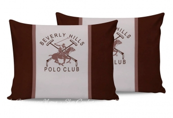 Наволочки Beverly Hills Polo Club BHPC 029 brown 50х70