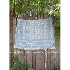 Покрывало Barine Kilim Throw denim 130х170