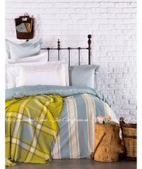 Набор постельное белье с пледом Karaca Home Mais евро 0a6a795a830b1