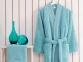 Набор халат с полотенцем и тапочками Marie Claire Jaina aqua
