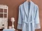 Набор женский халат с кружевом и полотенце Marie Claire Valerie blue