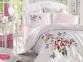Постельное белье Dantela Vita Perla beyaz сатин де люкс евро